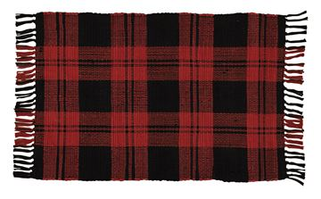 "Picture of Buffalo Check Rag Rug Rectangle 24"" X 38"""