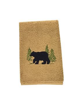 Picture of Black Bear Terry Fingertip Towel