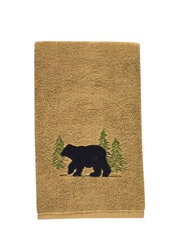Picture of Black Bear Terry Hand Towel