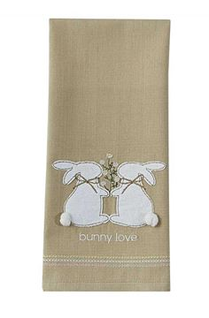 Picture of Bunny Love Decorative Towel