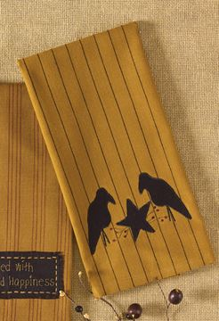 Picture of Crow And Star Decorative Towel