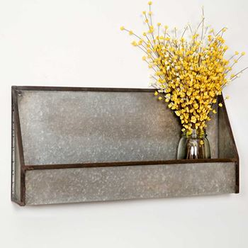 Picture of Galvanized Metal Wall Pocket / Bin Large