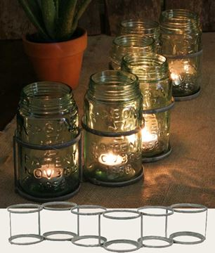 Picture of Serpentine - Barn Roof Candle Holder For Mason Jars / Bottles