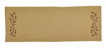"Picture of Burlap & Bittersweet Table Runner 72"" Long"