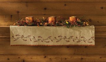 Picture of Burlap & Bittersweet Mantle Scarf  / Valance