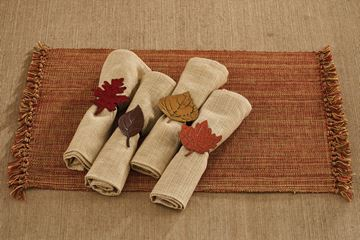 Picture of Leaf Napkin Ring - Set Of 4 - Assorted