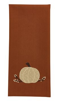 Picture of Cream Pumpkin Decorative Towel