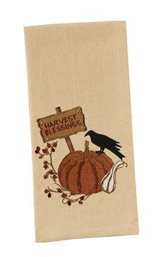 Picture of Crow Pumpkin Decorative Towel