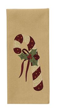 Picture of Candy Cane Decorative Towel