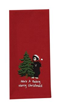 Picture of Beary Merry CHristmas Decorative Towel