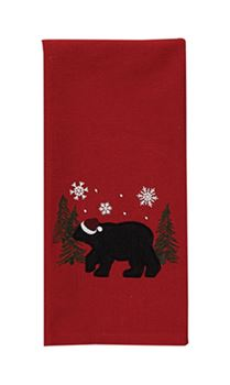 Picture of Bear In The Woods Decorative Towel