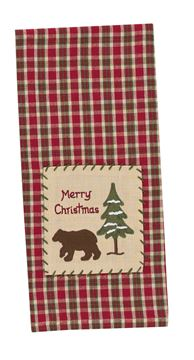 Picture of Christmas Bear - Merry Christmas Decorative Towel