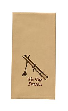 Picture of Cedar Falls Skis & Polls Decorative Towel