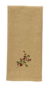 Picture of Burlap & Berries Decorative Towel