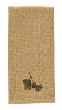 Picture of Burlap & Pine Decorative Towel