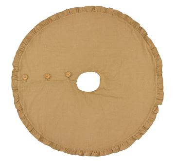 "Picture of Jute Burlap Tree Skirt 60"" Diameter Round"