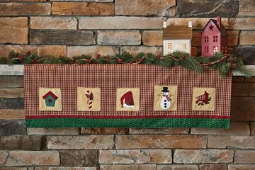 Picture of Christmas Sampler Mantle Scarf  / Valance