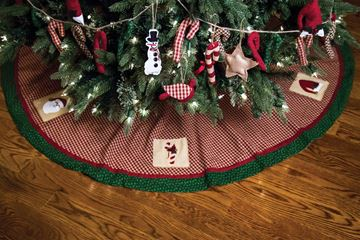 "Picture of Christmas Sampler Tree Skirt 60"" Diameter Round"