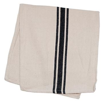 "Picture of Grain Sack Stripe In Black Table Runner 32"" Long"