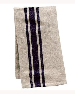 Picture of Grain Sack Stripe In Black Dishtowel