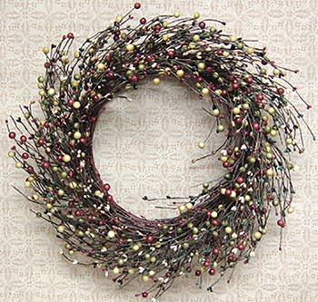 Picture of Assorted Berries - Primitive Combo Candle Ring / Wreath