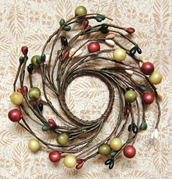 Picture of Assorted Berries - Primitive Combo Candle / Napkin Ring