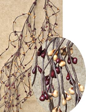 Picture of Pip Berry - Burgundy & Old Gold Wispy Garland