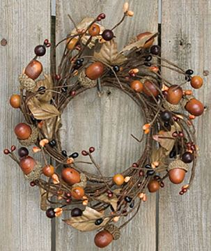Picture of Country Mix Acorn Candle Ring / Wreath