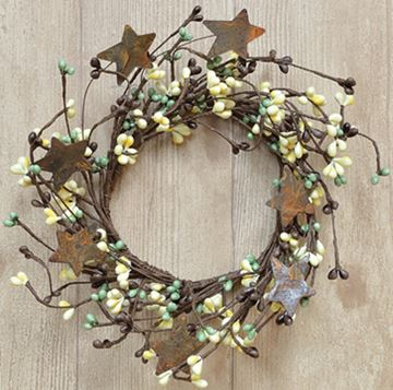 Picture of Pip Berry With Stars - Coffee Bean Candle Ring / Wreath