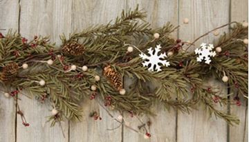 Picture of Pine & Snowflake Garland 4 Foot