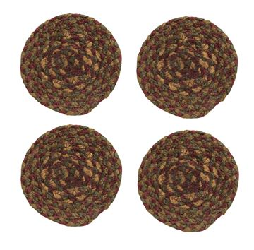 Picture of Cinnamon Braided Coaster Round - Set Of 4