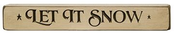 "Picture of Let It Snow Sign - Engraved Wood 12"" Long"