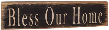 Picture of Bless Our Home Sign Stenciled Wood