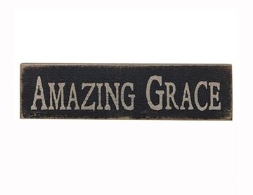 Picture of Amazing Grace - Black Sign - Stenciled Wood