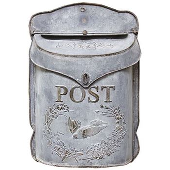 Picture of Galvanized Metal with Bird Post / Mailbox Vintage Inspired