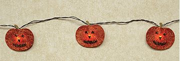 Picture of Jack-O-Lantern Face Light String / Set - With Bulb Covers