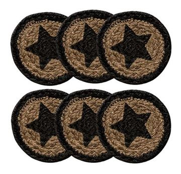 Picture of Farmhouse Star Braided Coaster Round - Set Of 6