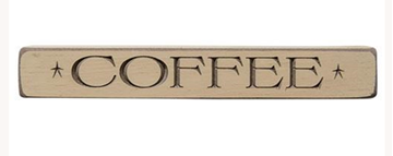 "Picture of Coffee Sign - Engraved Wood 12"" Long"