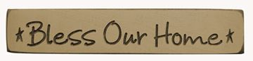 Picture of Bless Our Home Sign Engraved Wood