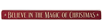 "Picture of Believe In The Magic Of Christmas Sign - Engraved Wood 18"" Long"
