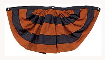 Picture of Halloween - Orange & Black Cotton Bunting Large