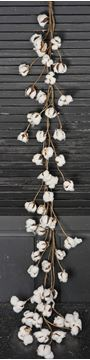 Picture of Cotton Boll / Ball - White Garland 5 Feet