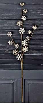 "Picture of Glitter Vintage Snowflake Pick / Spray 24"" High"