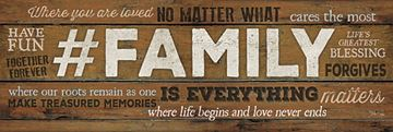 Picture of # Family Is Everything By Marla Rae Art Print - 12 X 36