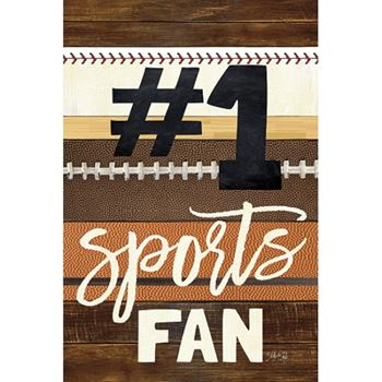 Picture of #1 SPORTS FAN By Marla Rae Art Print - 12 X 18