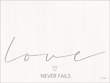 Picture of Love Never Fails By Jaxn Blvd Art Print - 12 X 12