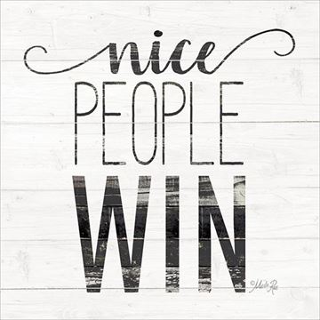 Picture of Nice People Win By Marla Rae Art Print - 12 X 12