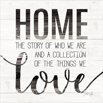 Picture of Home Story By Marla Rae Art Print - 12 X 12
