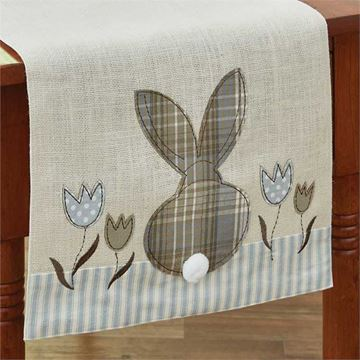"Picture of Bunny & Tulip Table Runner 42"" Long"