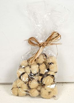 Picture of Cotton Boll / Ball - Tea Stained Botanical Fills Bag Of 12